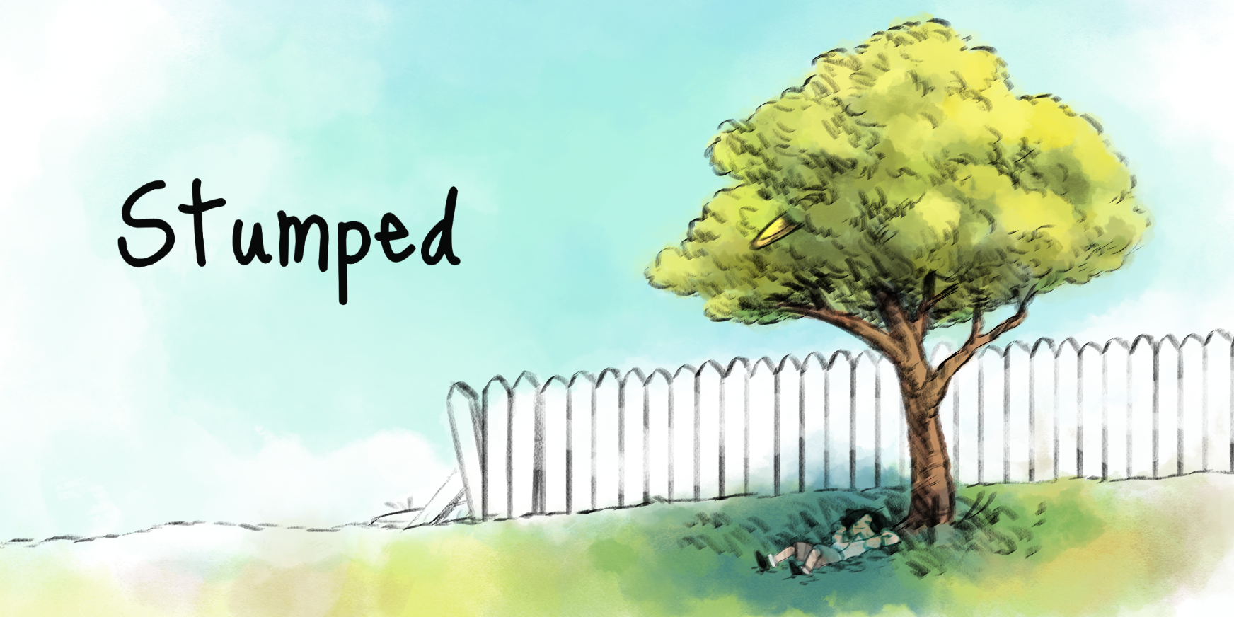 A calming, interactive short story about a boy and a tree who steals his frisbee.
